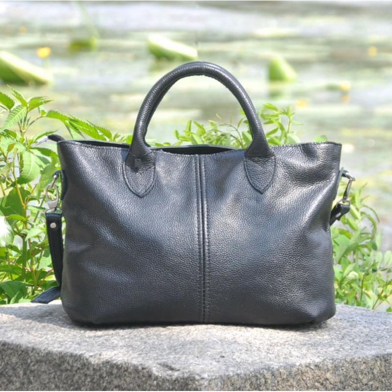 2364c514b1f0 Кожаная женская сумка Валенсия черная недорого в наличии в Киеве