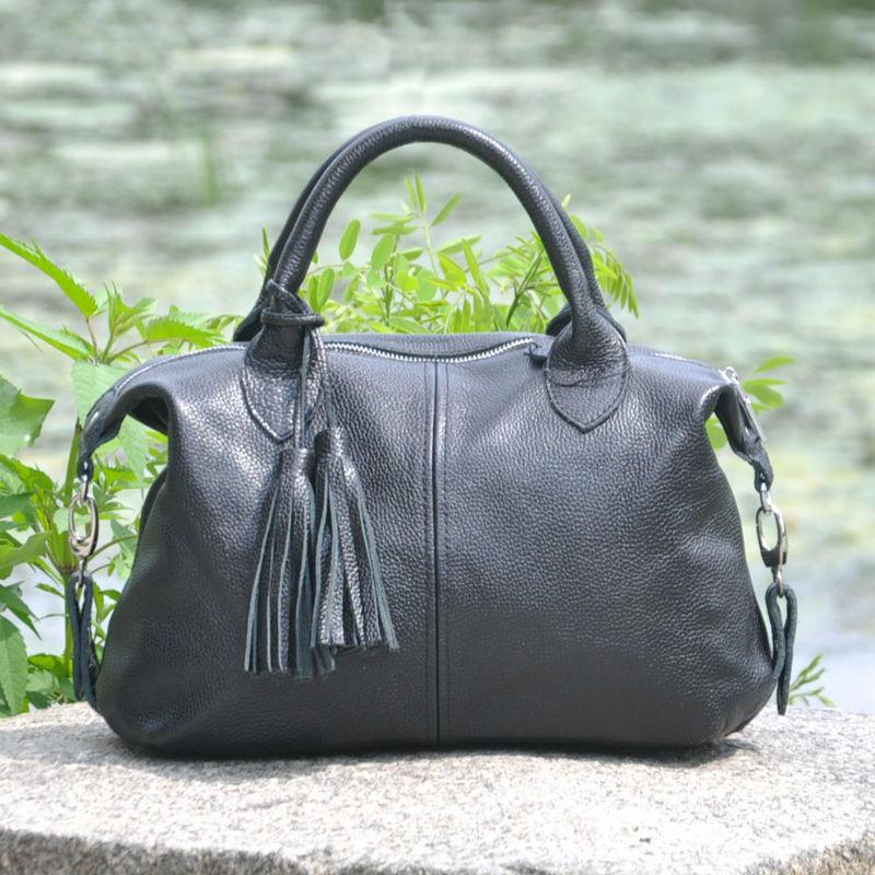 3ab77f31b6d7 Кожаная женская сумка Барселона черная недорого в наличии в Киеве