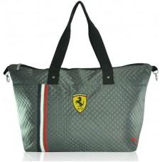 Спортивная стеганая сумка Puma Trapeze серая