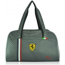 Спортивная стеганая сумка Puma Valise серая