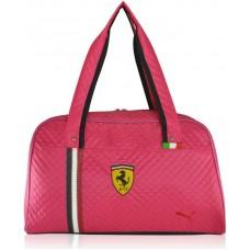 Спортивная стеганая сумка Puma Valise малиновая