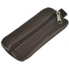 Кожаная ключница широкая Medium темно-коричневая