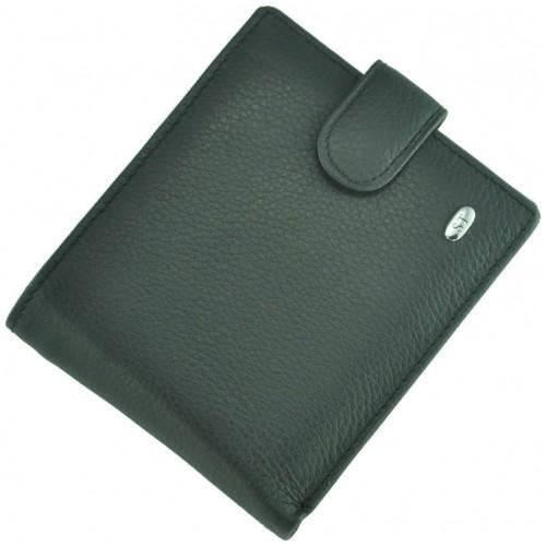 Кожаный мужской кошелек ST M4 Black