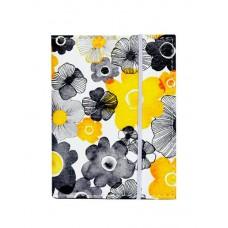Визитница белая в черные и желтые цветы