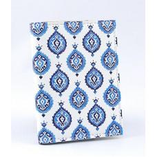 Визитница белая с голубыми турецкими мотивами
