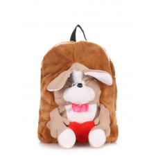 Детский рюкзак POOLPARTY kiddy-backpack-dog-brown