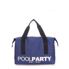 Коттоновая сумка POOLPARTY pool-12-darkblue темно-синя