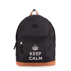 Рюкзак молодежный POOLPARTY backpack-keepcalm-black черный
