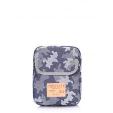 Мужская сумка на плечо POOLPARTY extreme-camouflage камуфляжная