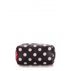 Косметичка POOLPARTY cosmetic-black-dots черная