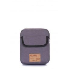 Мужская сумка на плечо POOLPARTY extreme-grey серая
