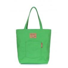 Коттонова сумка POOLPARTY arizona-green зелена