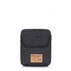 Мужская сумка на плечо POOLPARTY extreme-denim черная