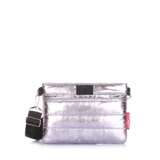 Стьобана сумка POOLPARTY Puffer на пояс/на плече puffer-silver срібло