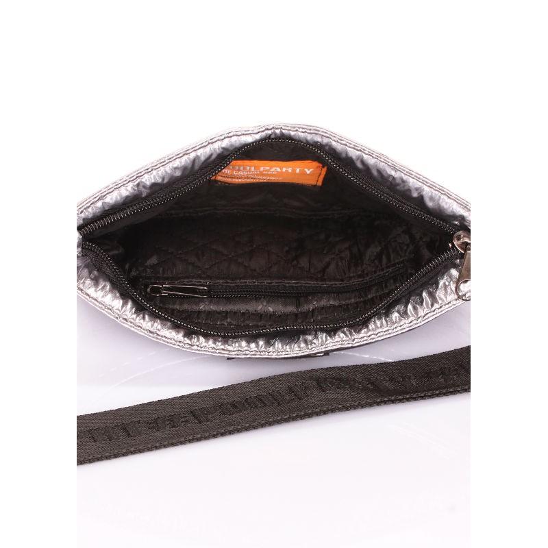 83f8b3f22bfa ... Стеганая сумка POOLPARTY Puffer на пояс/на плечо puffer-silver серебро