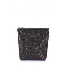 Блестящая косметичка-клатч POOLPARTY THE X the-x-glitter черная