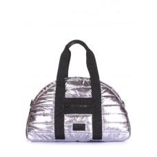 Стьобана сумка POOLPARTY alaska-stripe-silver срібло