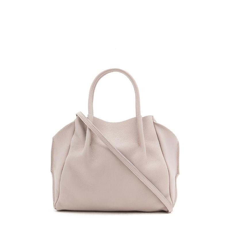 446e9e93bb21 Кожаная сумка POOLPARTY Soho Remix soho-rmx-beige бежевая купить от ...