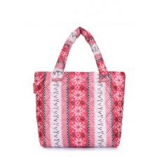 Дута сумка POOLPARTY з північним візерунком pp11-red-vertical червона