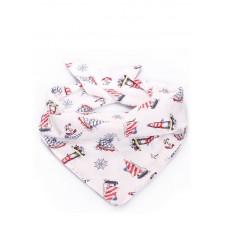 Хустка POOLPARTY scarf-navy білий
