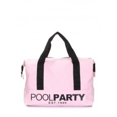 Коттоновая сумка POOLPARTY pool-12-rose розовая