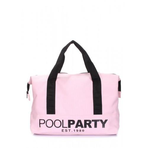 коттонова сумка POOLPARTY pool-12-rose рожева