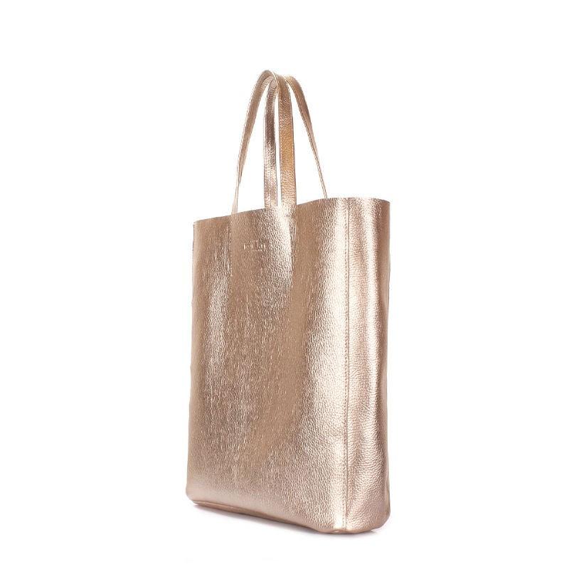 df7d0a370fa0 Кожаная сумка POOLPARTY City city-gold золотая купить от украинского ...