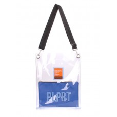 Прозора сумка POOLPARTY Clear з ременем на плече clear-blue-extra синя