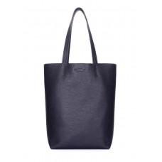 Шкіряна сумка-шоппер POOLPARTY iconic-darkblue синя