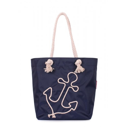 Літня сумка з якорем POOLPARTY anchor-oxford-blue синя