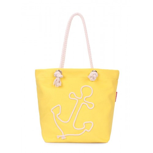 Літня сумка з якорем POOLPARTY anchor-yellow жовта