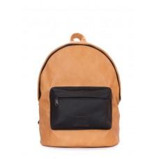 Рюкзак POOLPARTY из искусственной кожи backpack-pu-orange-black коричневый