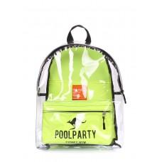 Прозорий рюкзак POOLPARTY Plastic bckpck-plastic салатовий