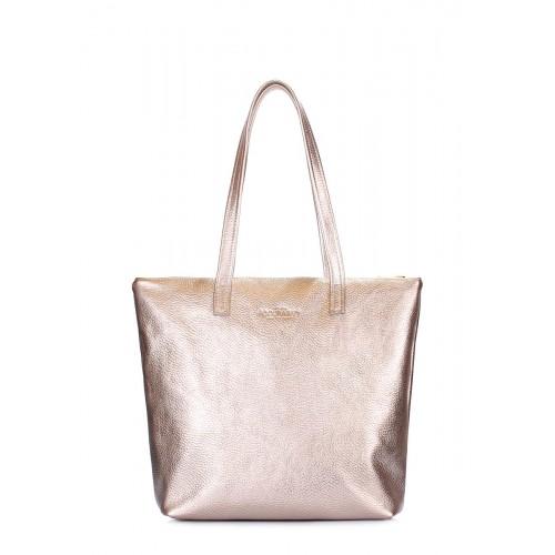 Золотая кожаная сумка Secret POOLPARTY secret-gold