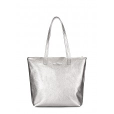 Срібна шкіряна сумка Secret POOLPARTY secret-silver