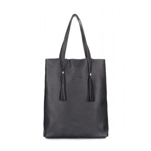 Кожаная сумка POOLPARTY Angel POOLPARTY angel-black черная