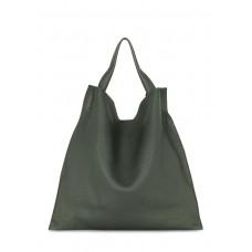 Зелена шкіряна сумка POOLPARTY bohemia-khaki
