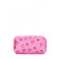 Рожева косметичка з качечками POOLPARTY cosmetic-rose-ducks