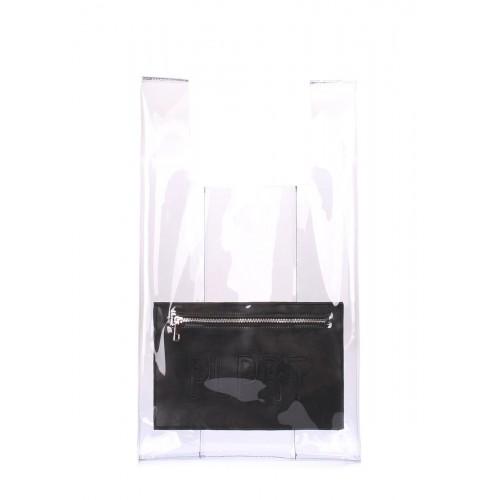 Прозора сумка-тоут POOLPARTY Oxygen oxygen-plprt