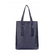 Темно-синя шкіряна сумка Angel POOLPARTY angel-darkblue синя