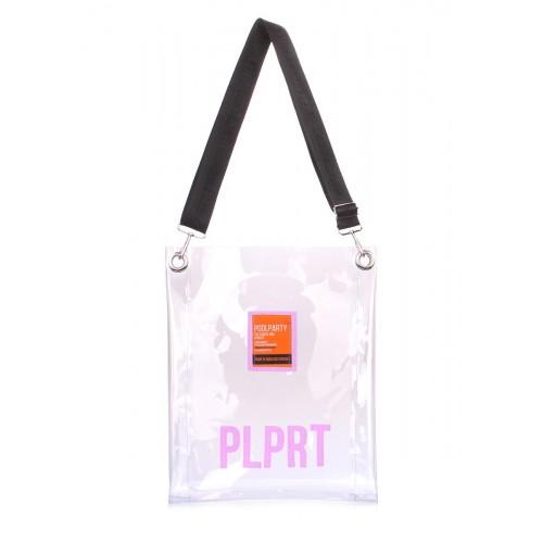 Прозора сумка Clear з ременем на плече clear-blue