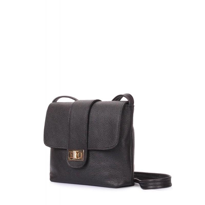 92cebdb177d9 Кожаная сумка на плечо POOLPARTY kiki-leather-black черная купить от ...
