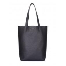 Шкіряна сумка-шоппер POOLPARTY iconic-black чорна