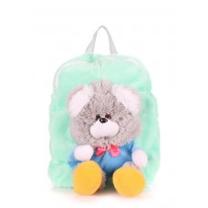 Детский рюкзак POOLPARTY с медведем kiddy-backpack-teddybear-gb зеленый
