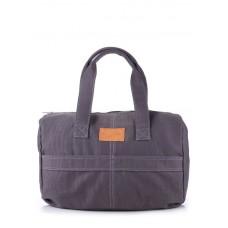 Коттоновая сумка POOLPARTY poolparty-sidewalk-grey серая