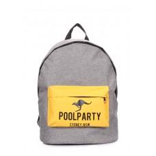 Повсякденний рюкзак POOLPARTY backpack-yellow-grey сірий