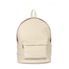 Шкіряний рюкзак POOLPARTY backpack-leather-beige бежевий