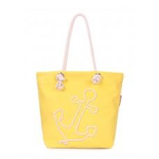 Летняя сумка с якорем POOLPARTY anchor-oxford-yellow желтая