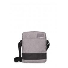 Мужская сумка на плечо POOLPARTY pool-94-oxford-grey серая