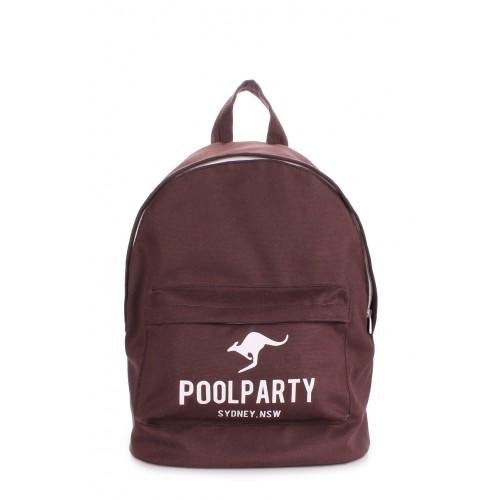 Рюкзак молодіжний POOLPARTY backpack-oxford-brown коричневий